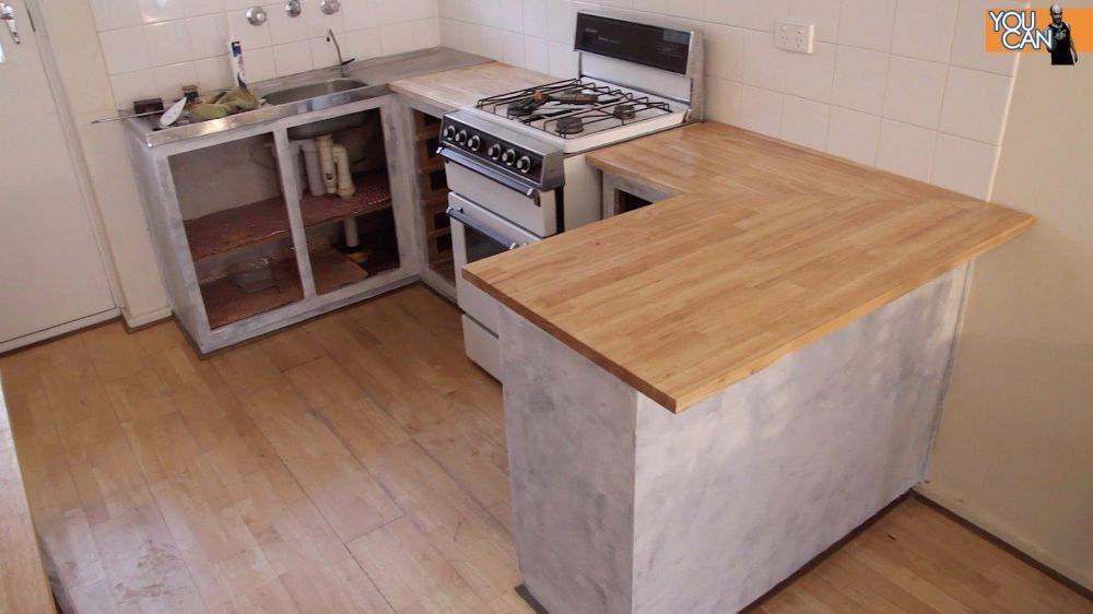 Diy Kitchen Counter Top Instillation Without Removing The Old One