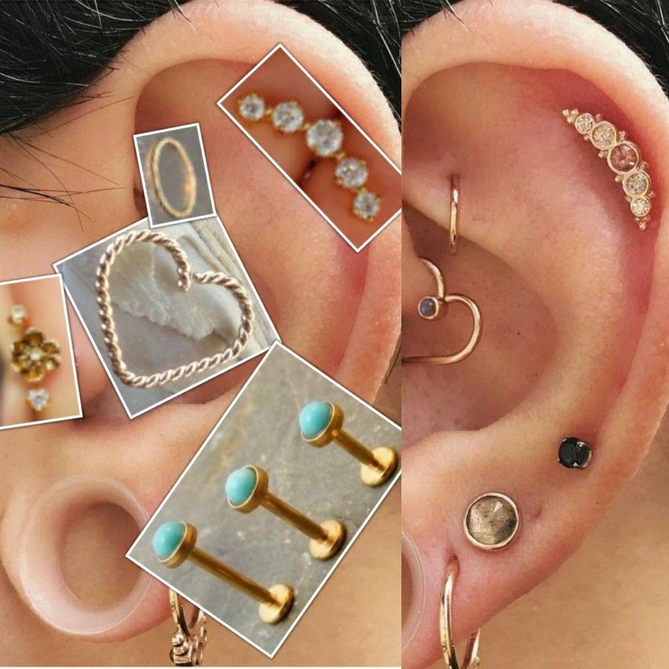 left ear. Ear cuff, Ear, Diamond earrings