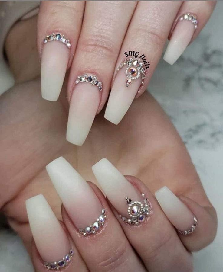 60 Bling Acrylic Coffin Nails Design With Rhinestones Stiletto Nails Designs Diamonds Nail Designs Coffin Nails Designs