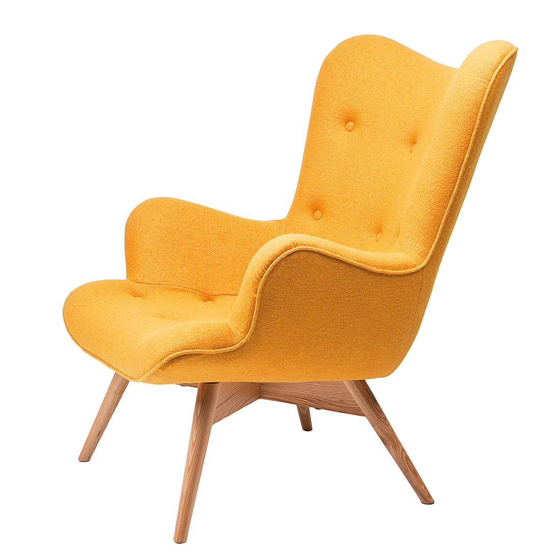 Fauteuil angels wings new geel uit de collectie van kare for Kuipstoel fauteuil