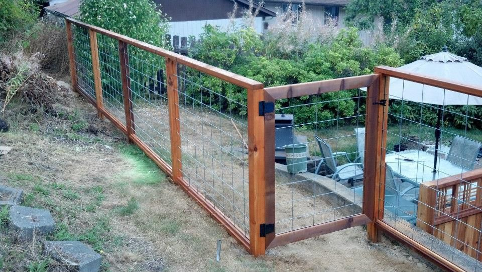 4×4 and 2×4 Cedar with Hog Wire Fencing « Cedar Creek Lumber | BUNK ...