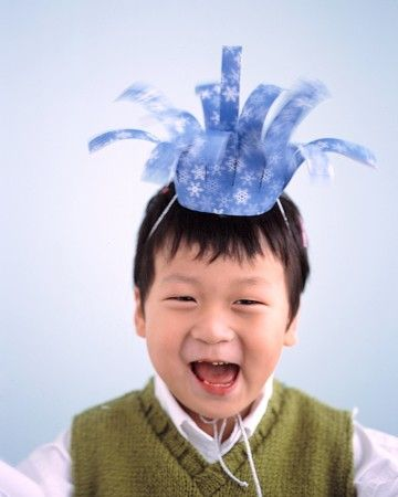 Hats like these are sure to elicit grins -- especially when each guest gets to make his own.