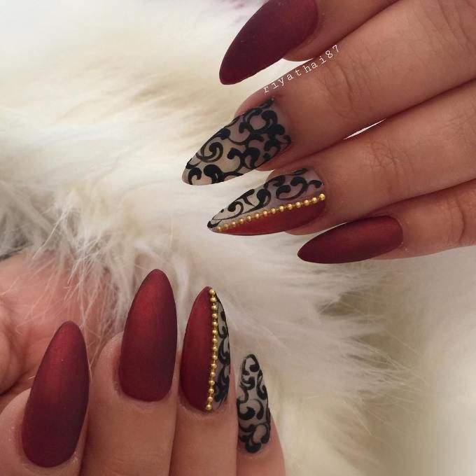 30 Fabulous Pointy Nail Designs To Try - 30 Fabulous Pointy Nail Designs To Try Pointy Nails, Sexy Nails