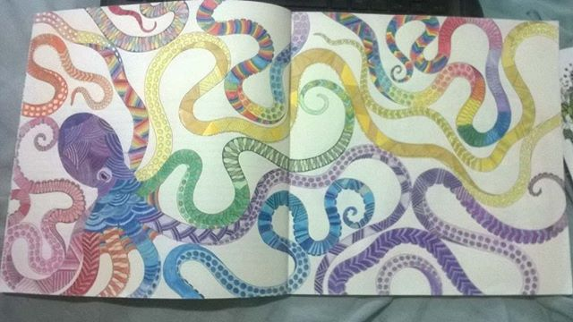 Polvo Que Eu Colori Do Livro Mundo Animal Ganhei Da Annaclarathomaz