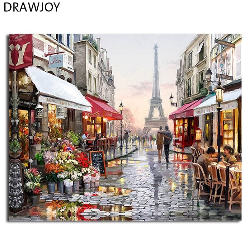 Rahmenlose bilder diy malerei by zahlen wandkunst acryl öl leinwand ...