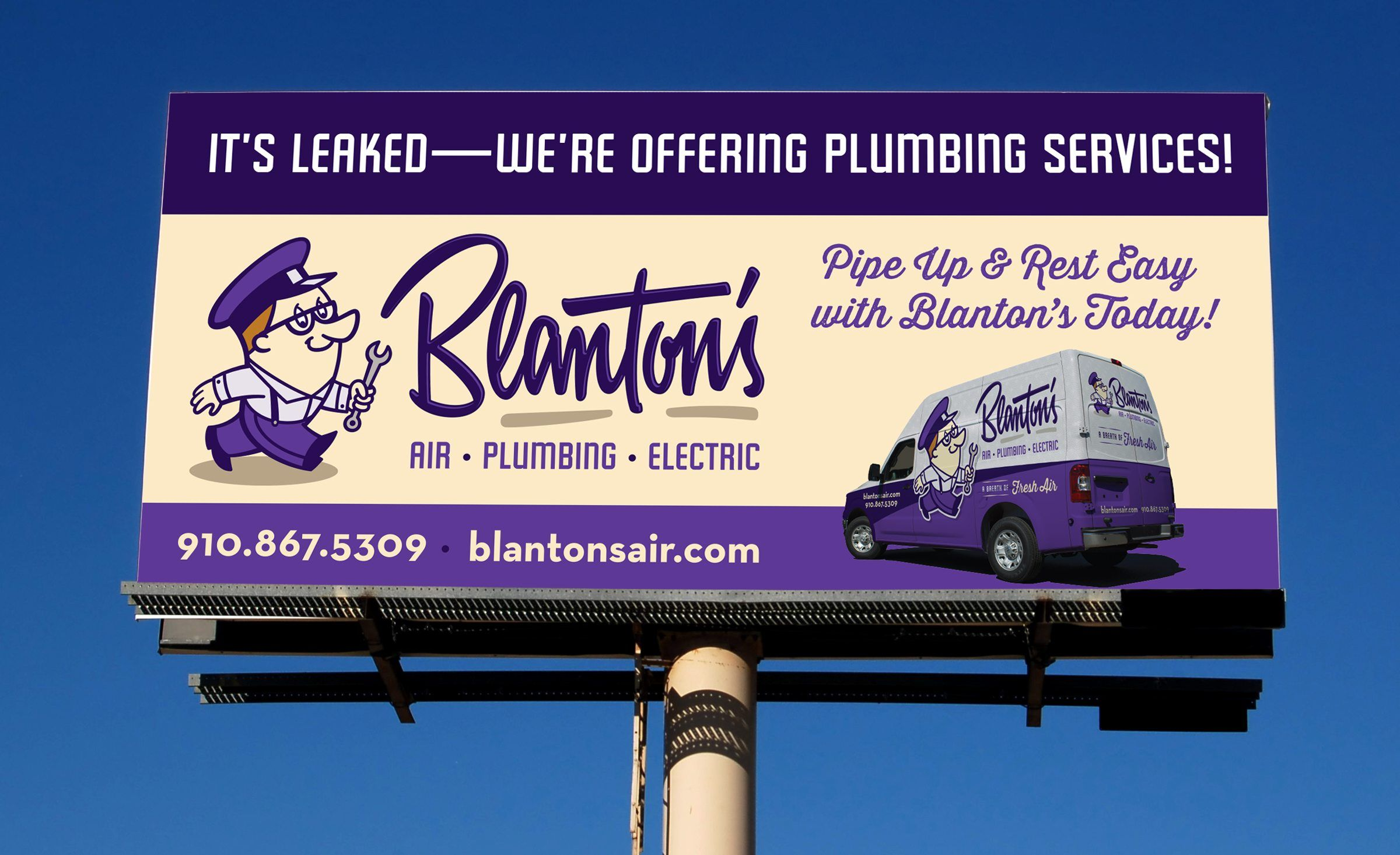 Billboard Design For This Hvac Plumbing Electrical Contractor In Fayetteville Nc Nj Advertising Agency Nj Plumbing Problems Plumbing Plumbing Emergency