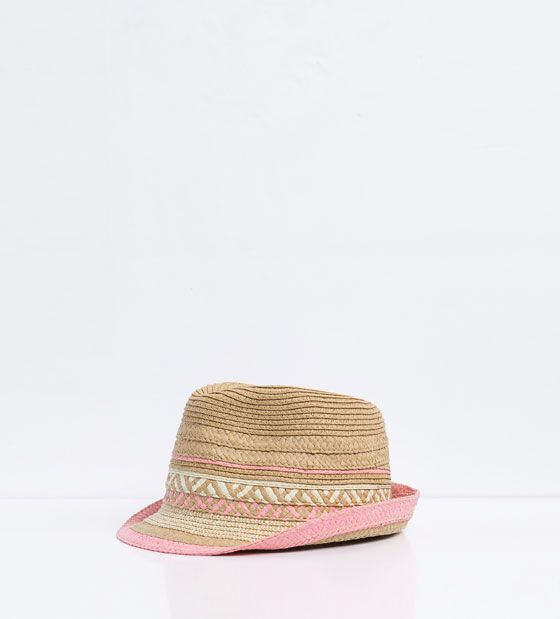 759aaa8e ZARA - KIDS - Straw hat with colorful tones | Summer | Girls ...