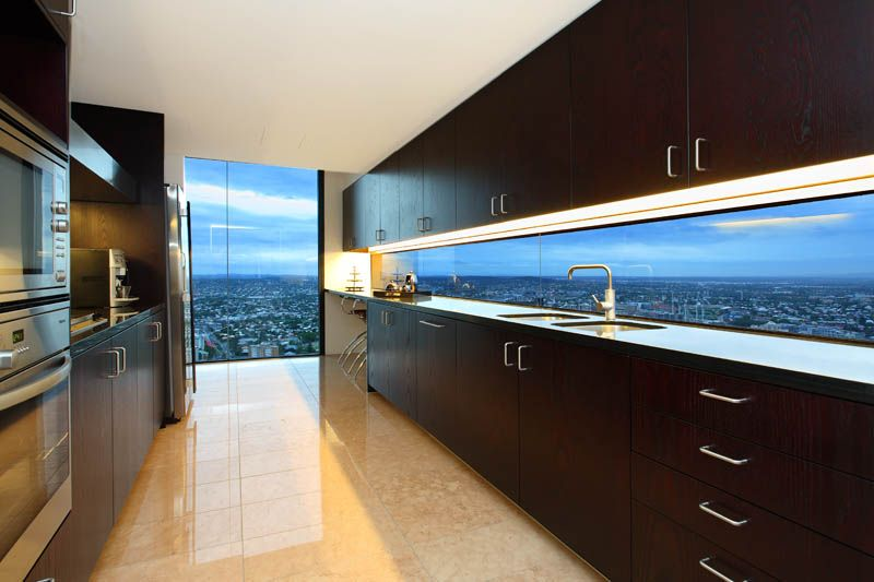 A Stunning Kitchen Up In The Clouds In Brisbane's City
