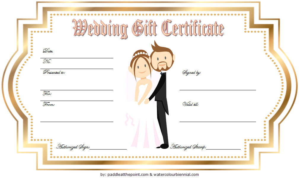 Free Wedding Gift Certificate Template Word With Golden Frame Gift Certificate Template Word Photography Gift Certificate Template Gift Certificate Template