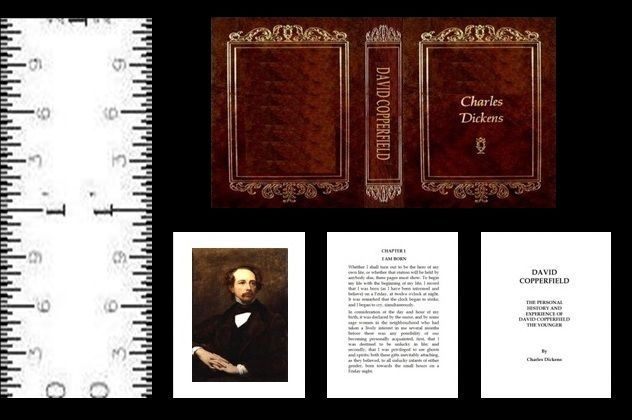 1:12 SCALE MINIATURE BOOK THE OLD CURIOSITY SHOP CHARLES DICKENS