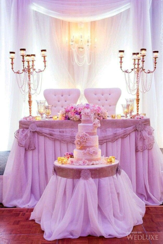 Cake Placement In Front Of Head Table.