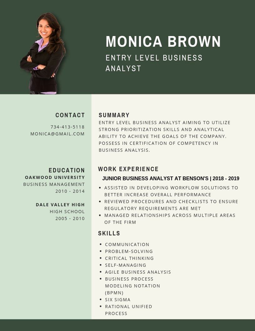 Entry Level Business Analyst Resume Awesome Entry Level Business Analyst Resume Samples Templates