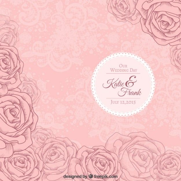 Pink roses wedding invitation free vector wedding pinterest pink roses wedding invitation free vector stopboris Image collections