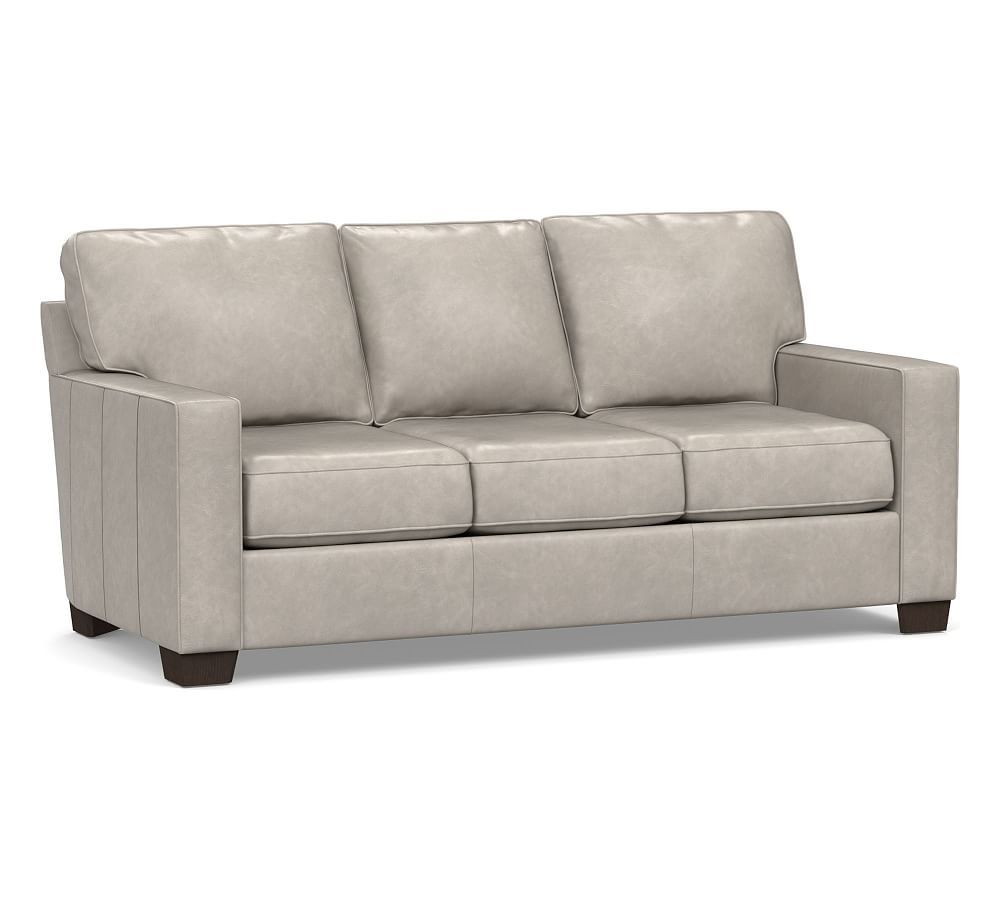 Buchanan Square Arm Leather Sleeper Sofa Polyester Wred Cushions Statesville Pebble