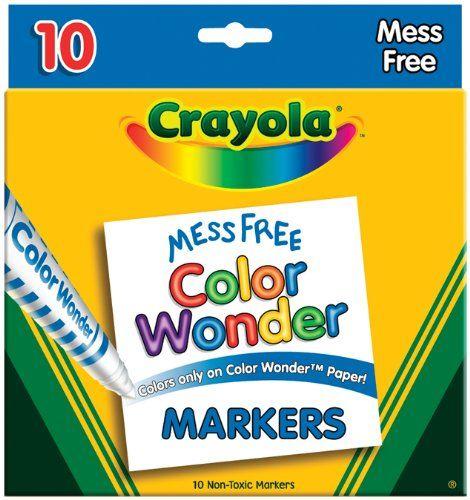 Crayola Color Wonder Broad Line Markers-Assorted Colors ...