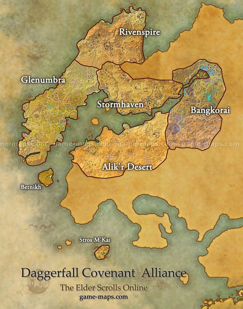 Daggerfall Covenant Alliance Map The Elder Scrolls Online Video