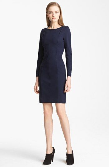 Armani Collezioni Shoulder Detail Milano Jersey Dress available at #Nordstrom