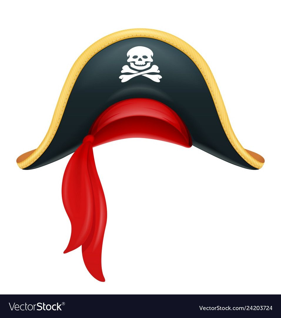 Pirate Hat Corsair Headgear Vector Image On Vectorstock Pirate Hats Headgear Pirates