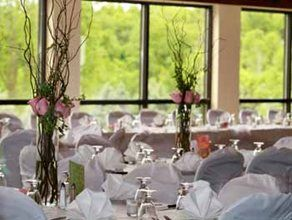 Paint Creek Country Club Wedding Table Setting Close Up