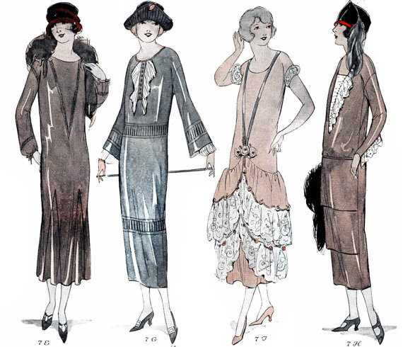 Vintage Sewing Pattern Instructions 60s 60Hour One Piece Dress Stunning 1920s Dress Patterns