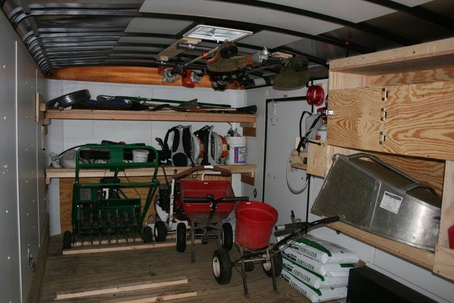 Enclosed Bed Google Search: Landscape Enclosed Trailer Organization