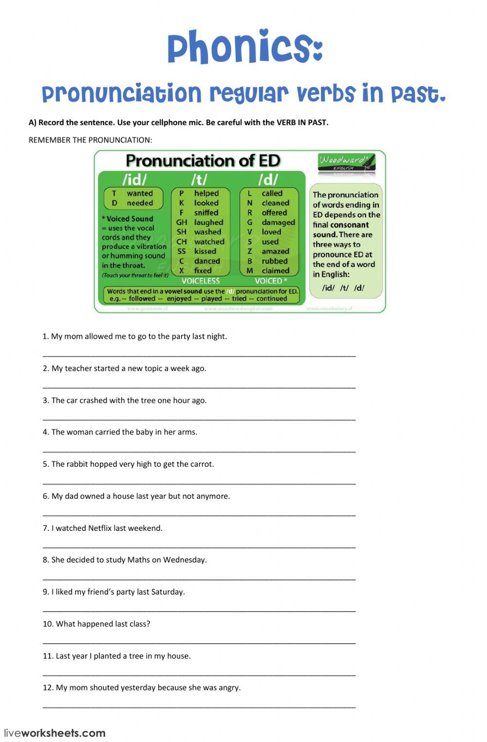 Speaking interactive and downloadable worksheet  You can do