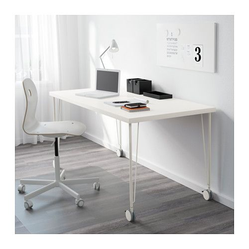 Linnmon Krille Table White 59x29 1 2 Ikea Drawer Unit Affordable Furniture Linnmon Table Top