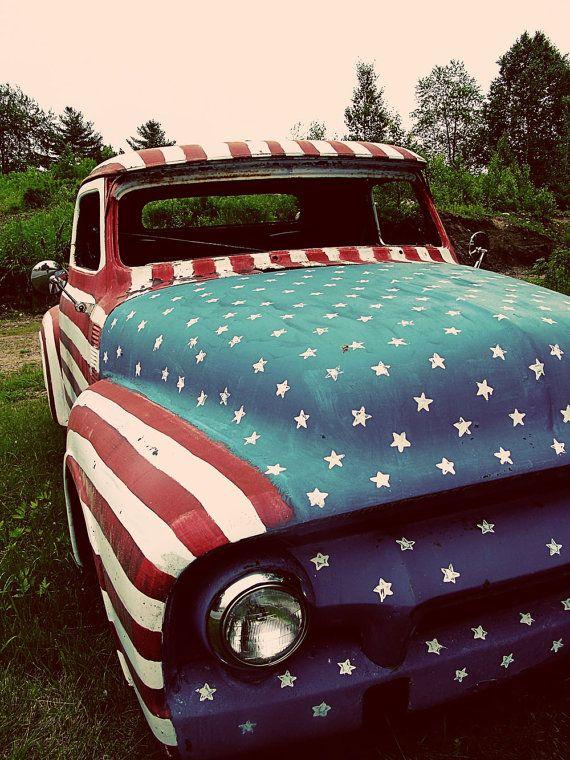 Happy 4th Classic Trucks I Love America Trucks