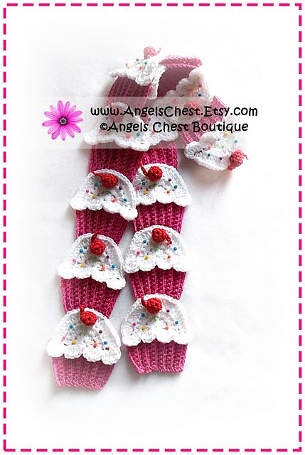 Ravelry: Crochet Yummy CUP CAKE Scarf PDF Pattern Boutique Design - No. 50 by AngelsChest pattern by Mary Angel Morris
