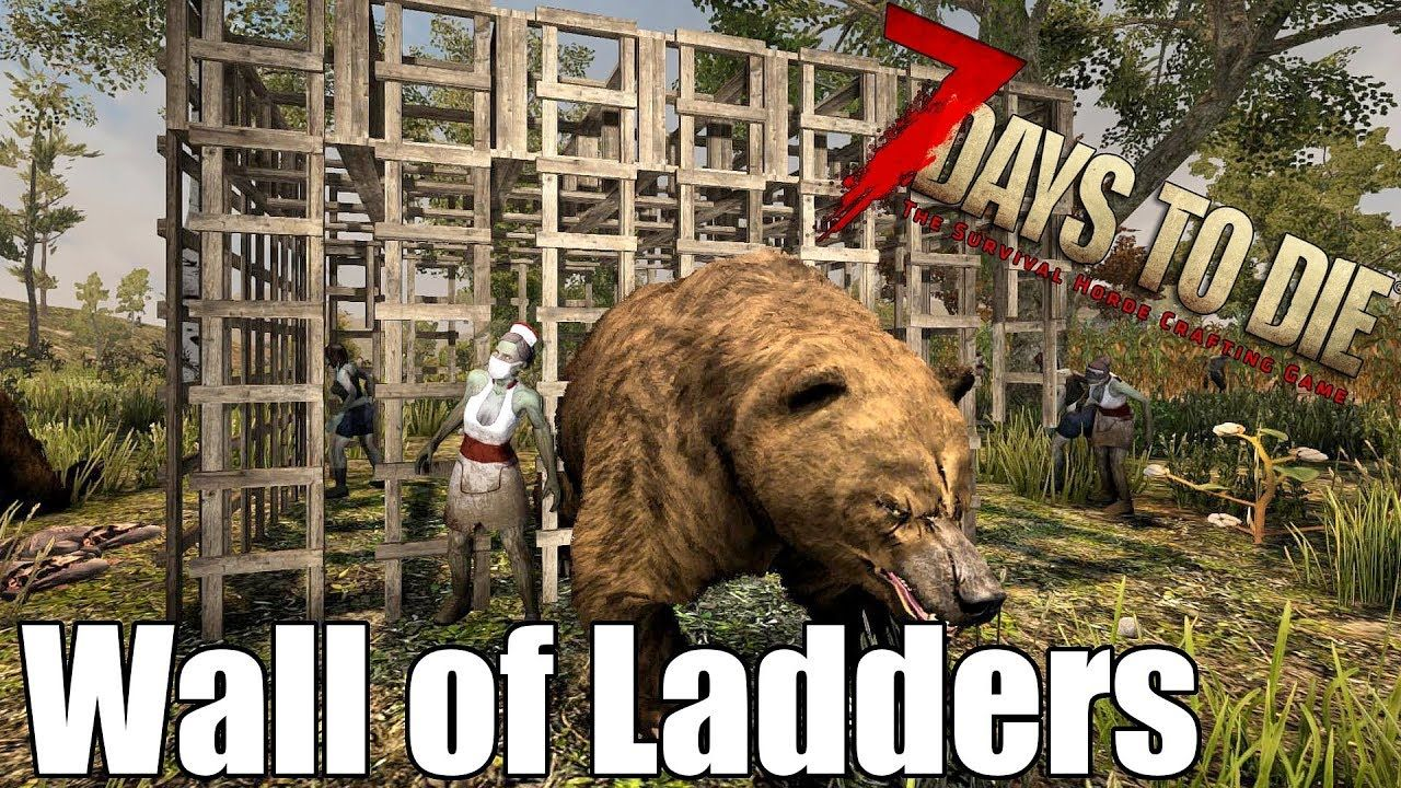 7 Days To Die Wall Of Ladders Can It Stop Zombies 7 Days