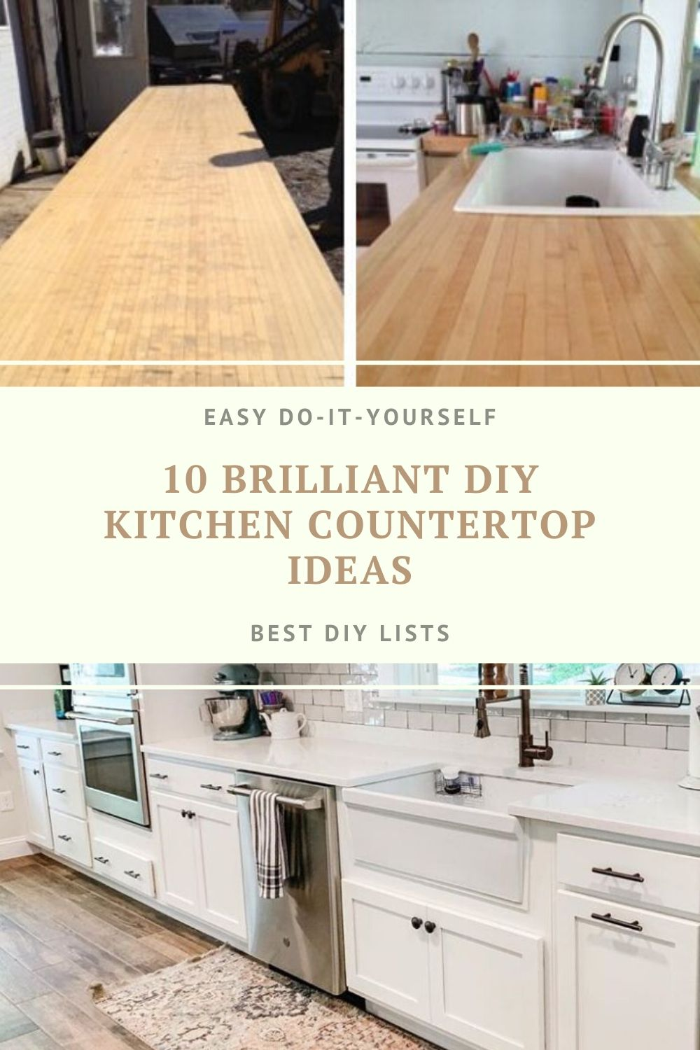 Diy Kitchen Countertop Ideas In 2020 Diy Kitchen Kitchen