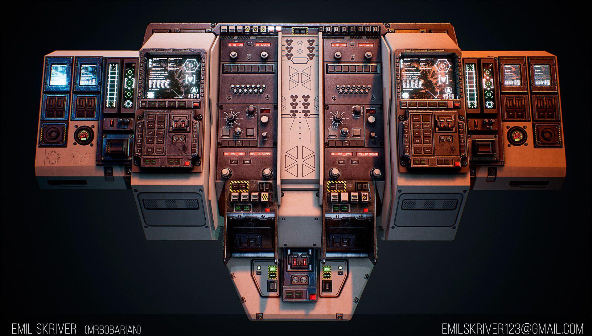 Scifi Cockpit By Emil Skriver Sci Fi 3d Cgsociety