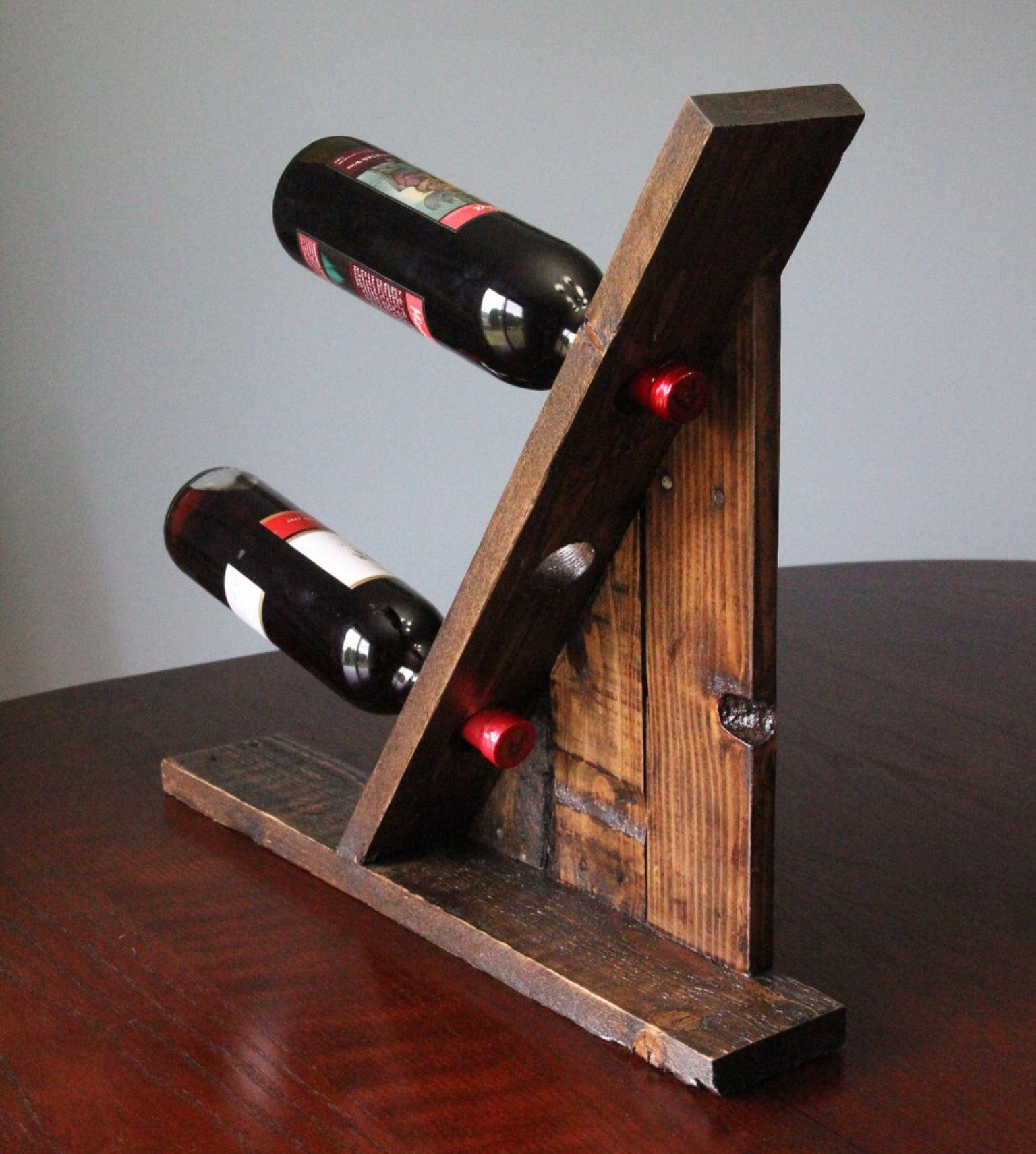 Pallet Table Top Wine Bottle Holder Pallet Wood Pallet