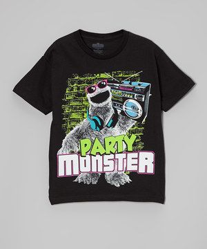 Love this Black Cookie Monster 'Party Monster' Tee - Boys by Sesame Street on #zulily! #zulilyfinds