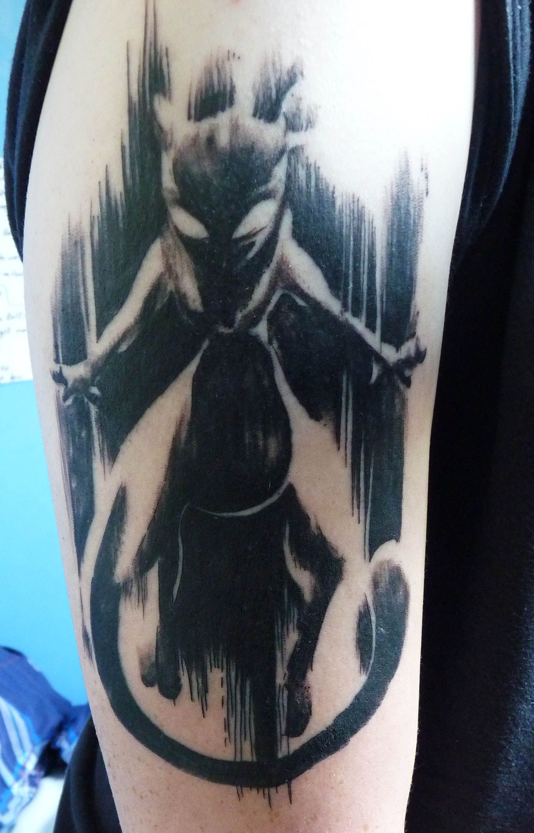 22900466eef2e bad ass mewtwo tattoo! | pokemon | Pokemon tattoo, Tattoos, Pokemon