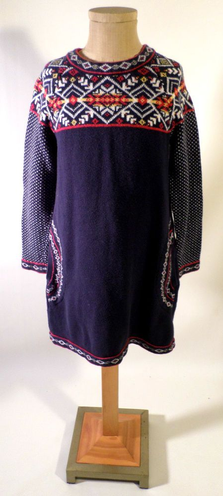 Girls Size 110 (4-6 US) Hanna Andersson Nordic Fair Isle Sweater ...