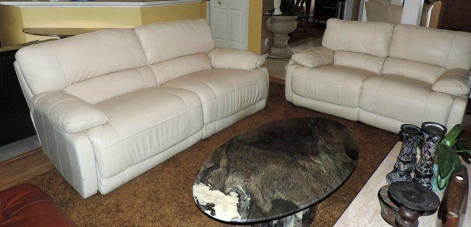 Fantastic Macys Nina Cream Leather Electric Reclining Sofa Loveseat Forskolin Free Trial Chair Design Images Forskolin Free Trialorg