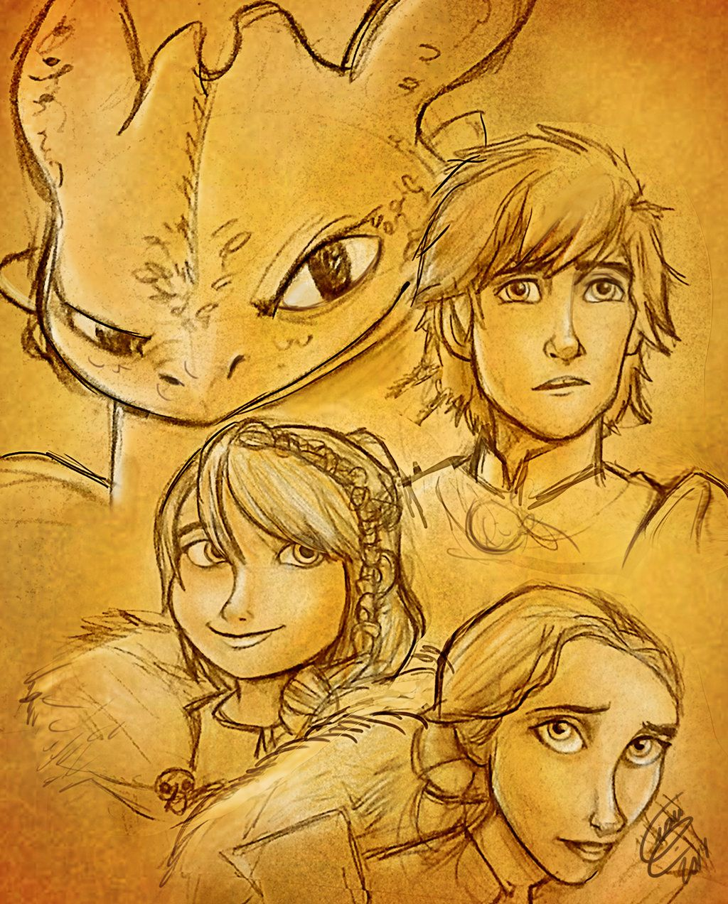 How Train Your Dragon 2 - SKETCH by Gian16.deviantart.com on ...