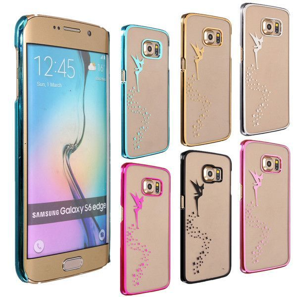 B, Fairy Angel Clear PC Hard Back Case Cover For Samsung Galaxy S6 Edge