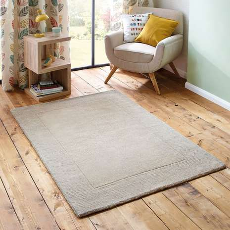 Dunelm Mill Natural Border Wool Rug