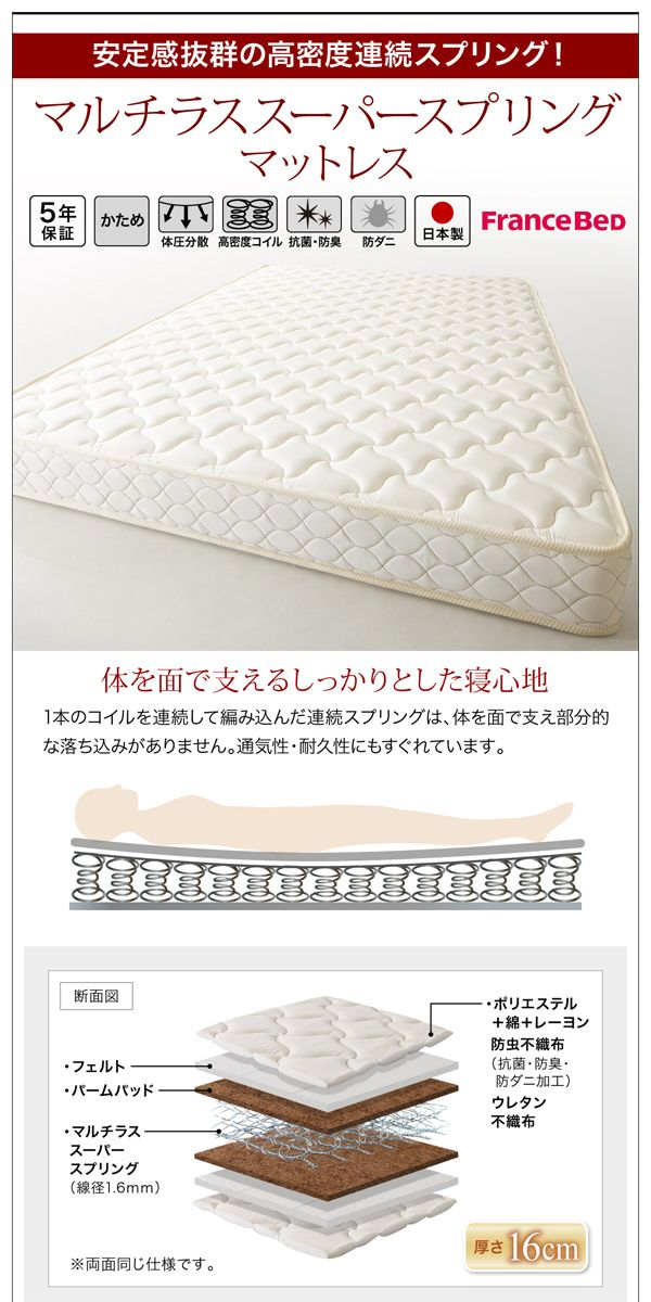 デザインすのこベッド Camille カミーユ フレームのみ セミダブル