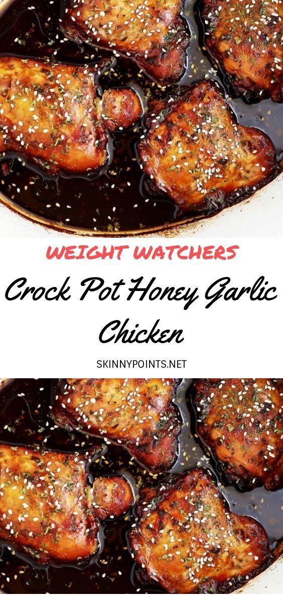 Crock Pot Honey Garlic Chicken #easycrockpotchicken