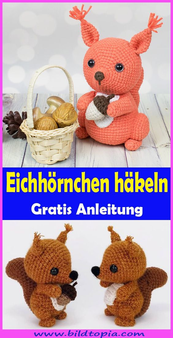 Photo of In dieser gratis Anleitung zeige ich Ihnen, wie Sie ein süßes Amigurumi Eichh…