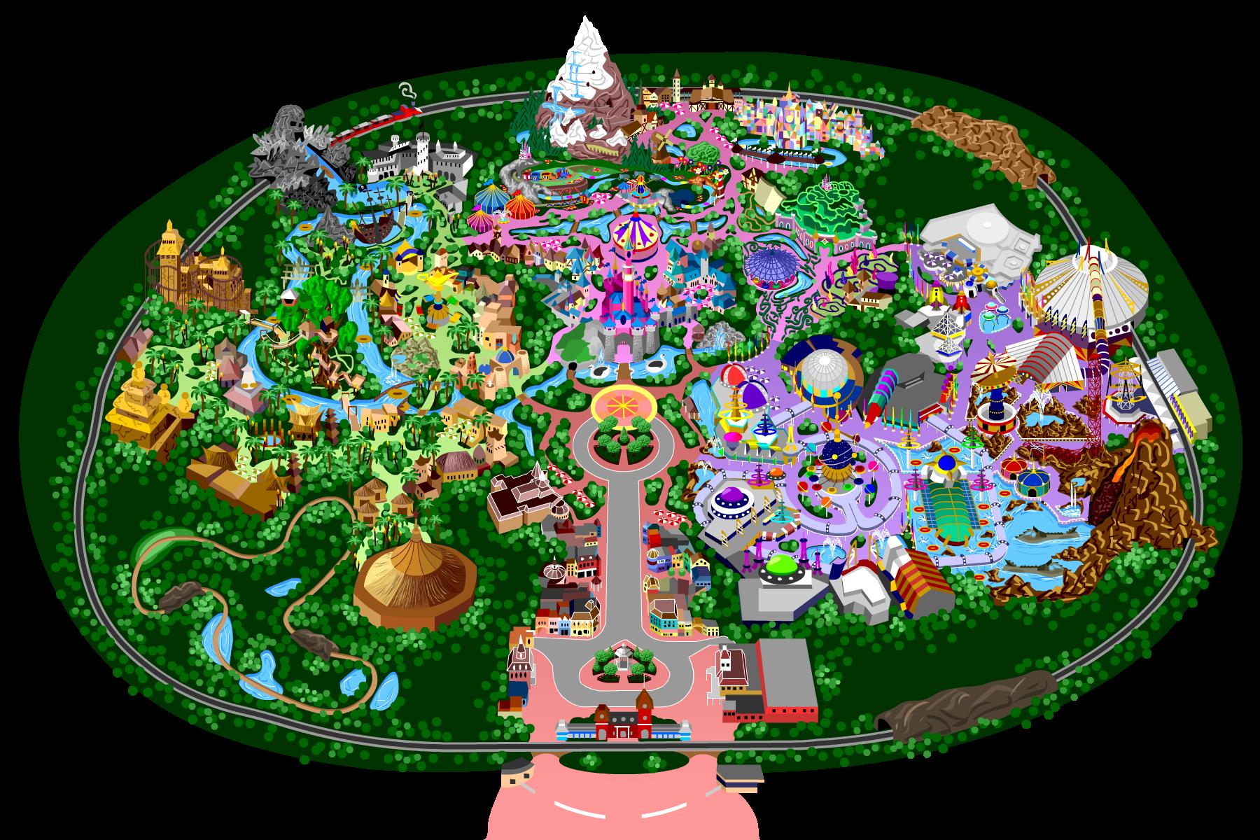Kinect Disneyland Adventures park map Themepark