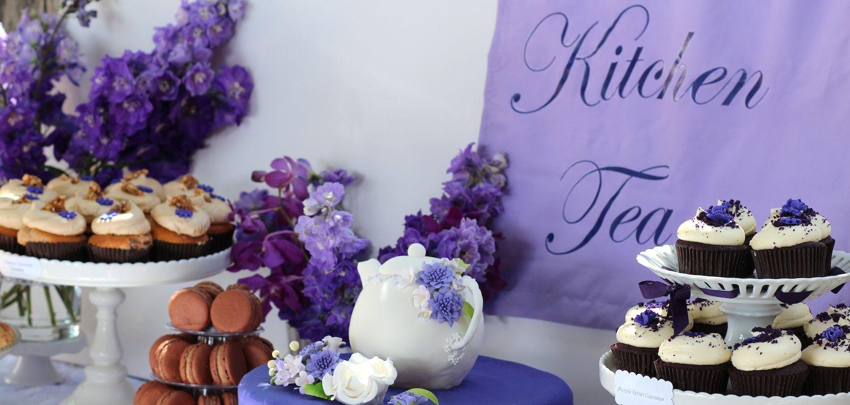 Purple Kitchen Tea Buffet