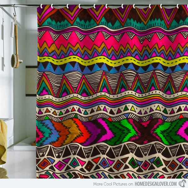 15 bright and colorful shower curtain designs home design lover - Colorful Shower Curtains