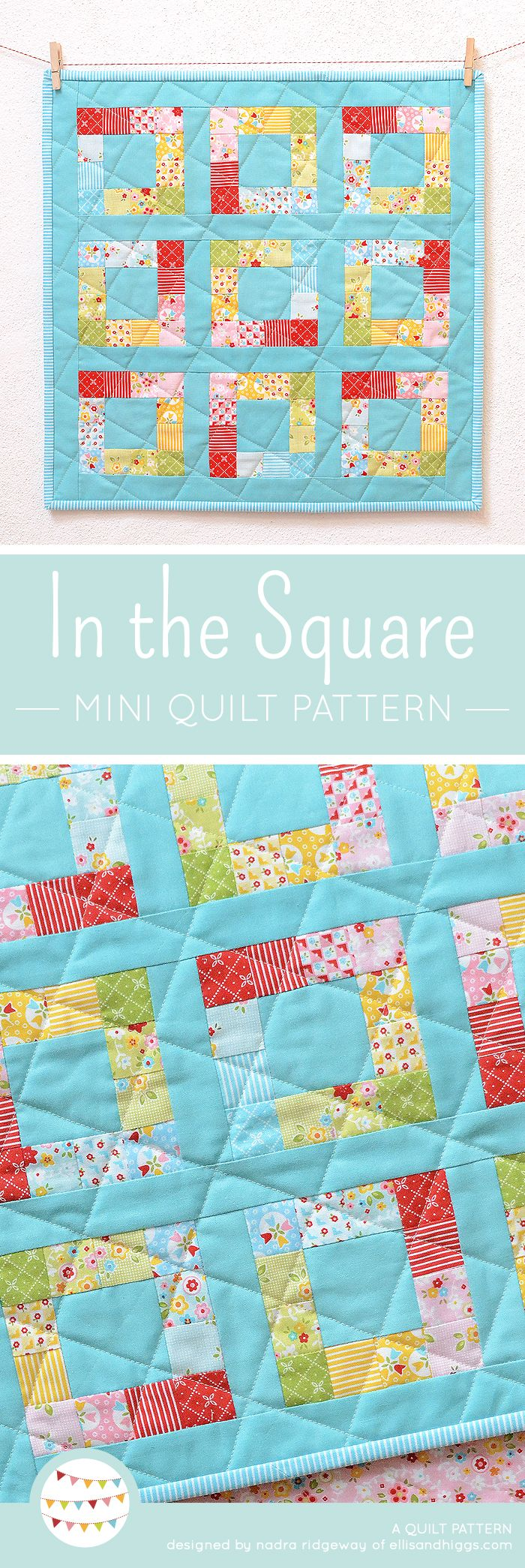 PDF Quilt Pattern - In The Square MINI | Patchworkmuster ...