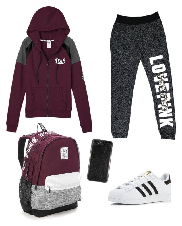 """Sport"" by zosiaav on Polyvore featuring Victoria's Secret and adidas"