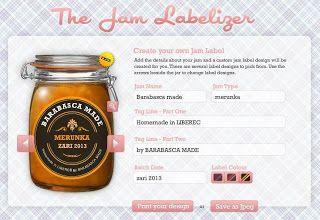 Barabasca Made Diy Stitky Na Zavareniny Jam Label Printing Labels Jar Labels