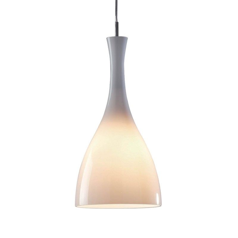 Dar tone glass ceiling pendant light white